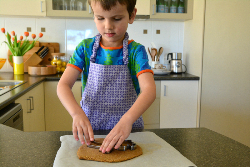Otis making Ginger Cookies!! At How we Montessori.  July 2016