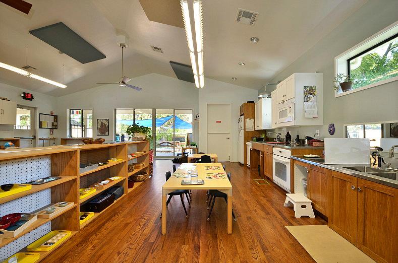 Montessori School Kitchen, Anthea Montessori School, Texas