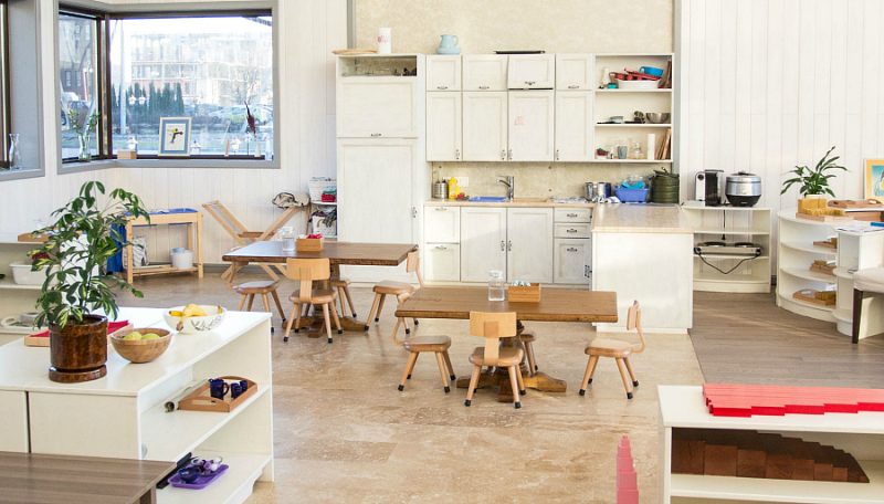 Otrada Montessori Russia - Montessori School Kitchen