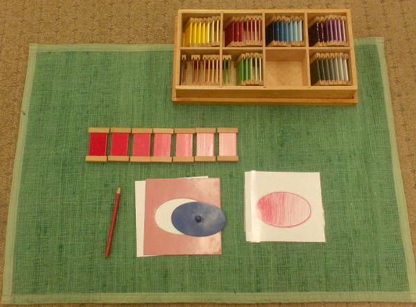 Love Montessori Colour Tablets Box Three With Extensions