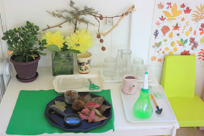La Table Nature Nature Table, Montessori at Athena School France