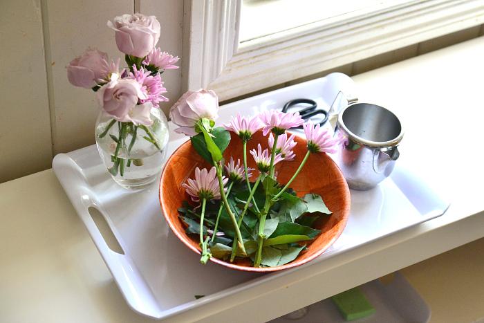 I Am Montessori, Flower Arranging, Practical Life at How we Montessori