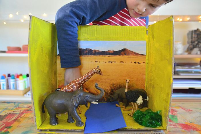 Making a Diorama - how we montessori