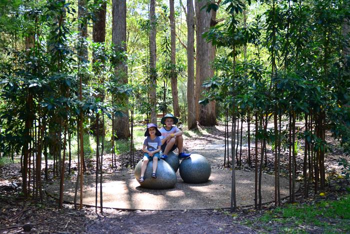 Caspar and Otis together at Maroochy Botanical Gardens at How we Montessori