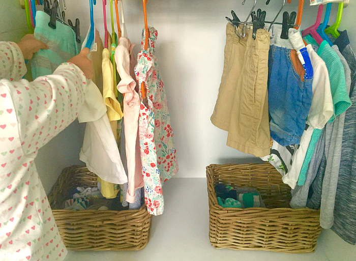 Three Minute Montessori - clothing in wardrobe