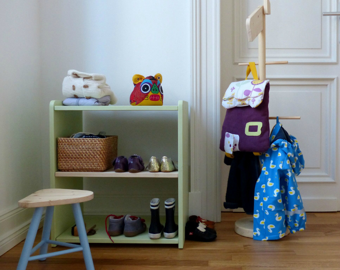 Montessori Home, Entry Way, shoes and coats