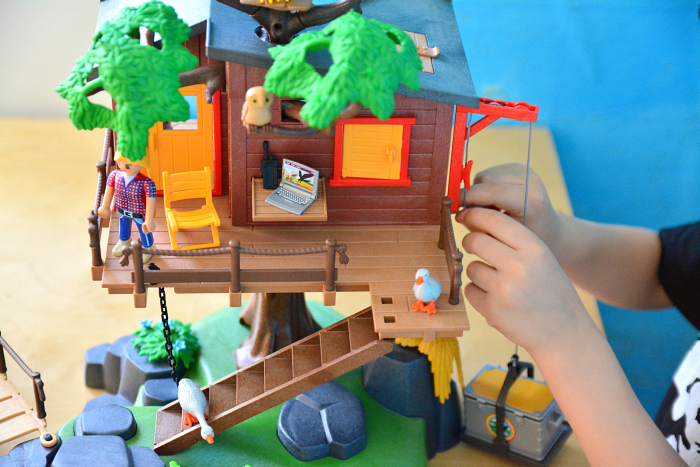 Pretend Play at How we Montessori - Playmobil Adventure Treehouse