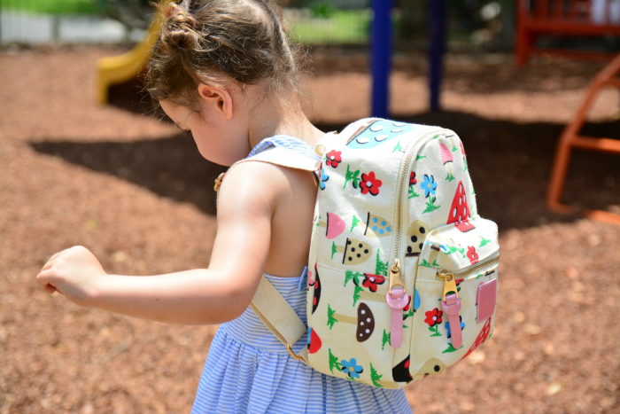 Beautiful shot! Bagbini Montessori Backpack at How we Montessori