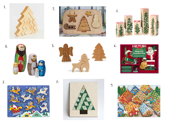 Christmas Puzzles to Love, 2 to 5 years at How we Montessori