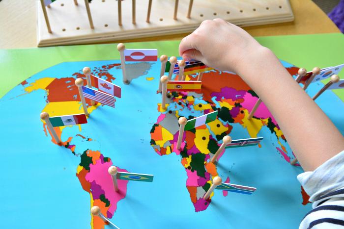 Montessori Geography Flag Material #2