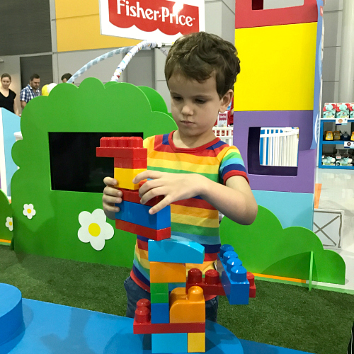 Otis building at the Brisbane Baby and Toddler Show 2017