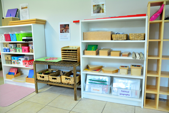 MELA activities  language and math shelves