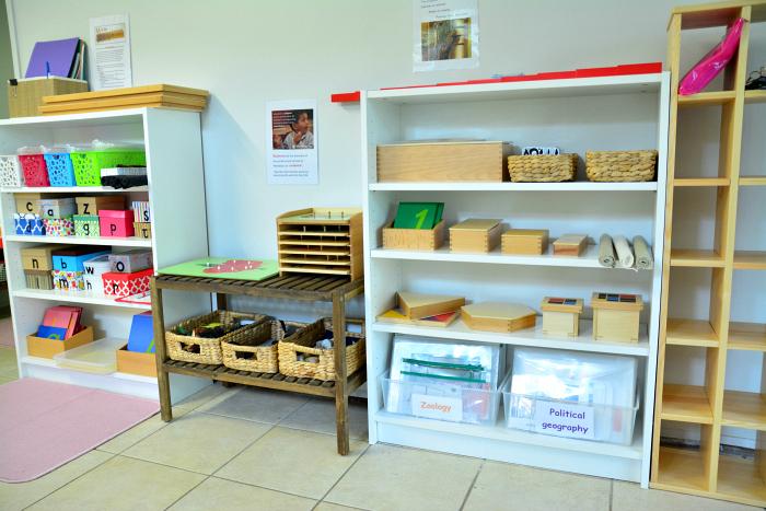MELA activities  language and math shelves