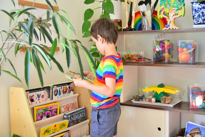 Work Shelves at How we Montessori