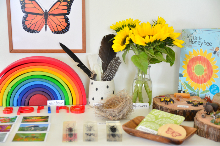 Spring Nature Table at How we Montessori
