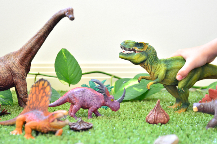 Dinosaur Play at How we Montessori