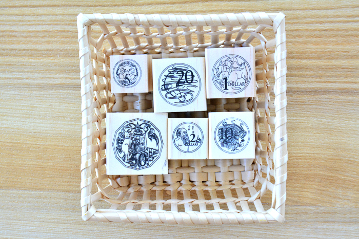 Coin stamp work at How we Montessori*