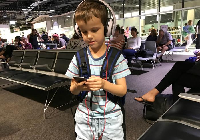 Otis at airport  travelling at HWM