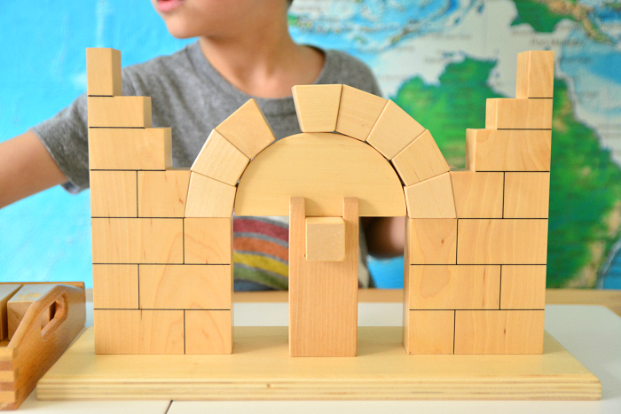 Otis working with Roman Arch at How we Montessori