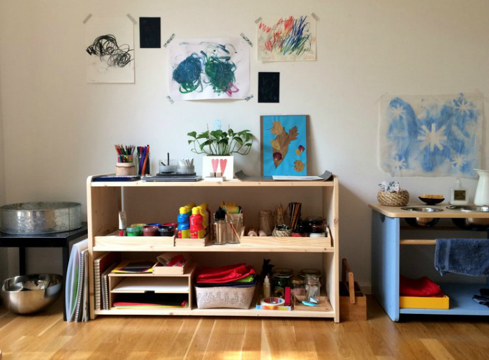 Montessori inspired art space at Mothers Abroad