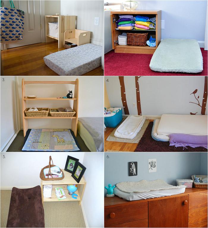 Montessori Infant Baby Change Areas at How we Montessori