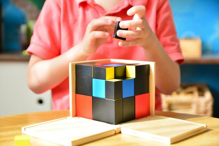 Otis Trinomial Cube at How we Montessori