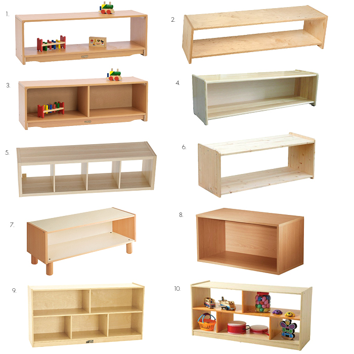 montessori low toddler shelves ideas and options - Toddler Bookshelves