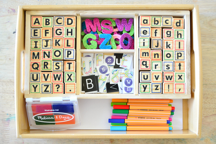 Multi Media Literacy Tray at How we Montessori