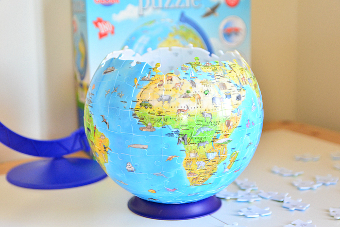 Puzzle Globe  almost finished at HWM