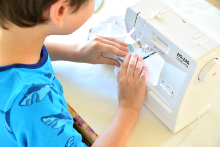 How we Montessori child size sewing machine  hand made cushions
