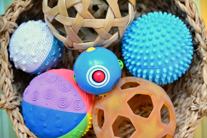 Montessori Ball basket at How we Montessori