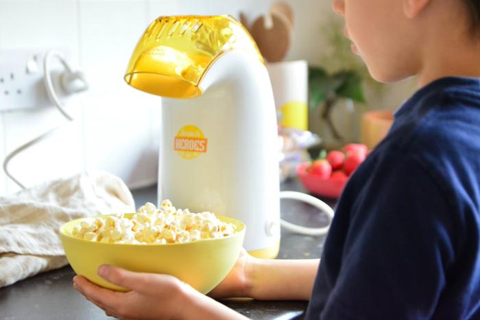 Otis and his popcorn maker at How we Montessori
