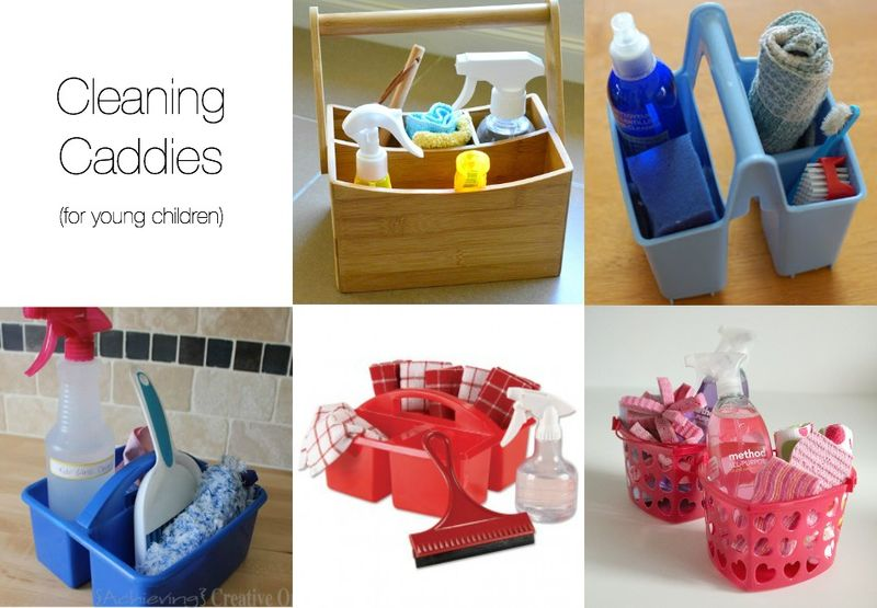 Cleaning Caddies for the Montessori Child Toddler Home