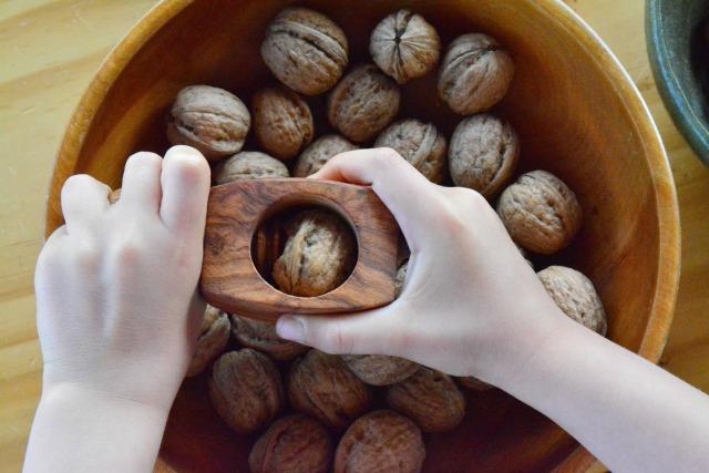 Olive wood nut cracker at How we Montessori