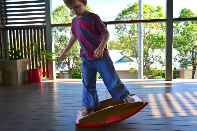 Afternoons with Otis - wooden balance board