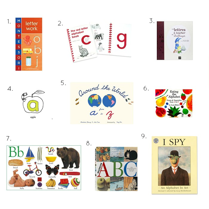Alphabet Books, Montessori, Sand Paper and Tactile Letters and More at How we Montessori