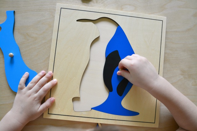 Brainy Box Penguin Puzzle at How we Montessori