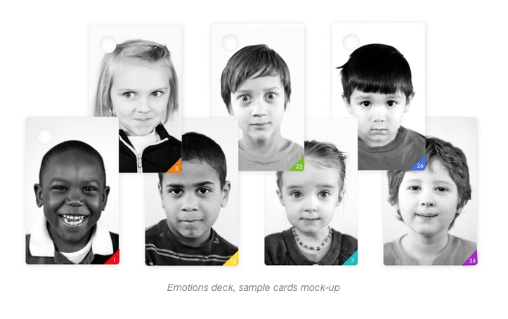 Children's Wallet Cards Emotions - photographs