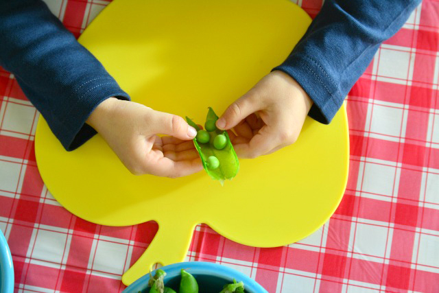 Five Minutes Montessori Shelling Peas #3
