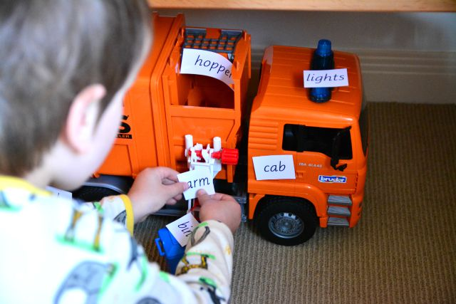Parts of a garbage Truck Labels at How we Montessori
