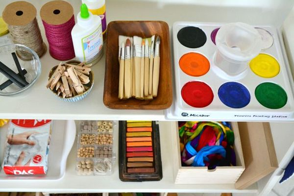 What S On Our Art Shelves Link Up How We Montessori