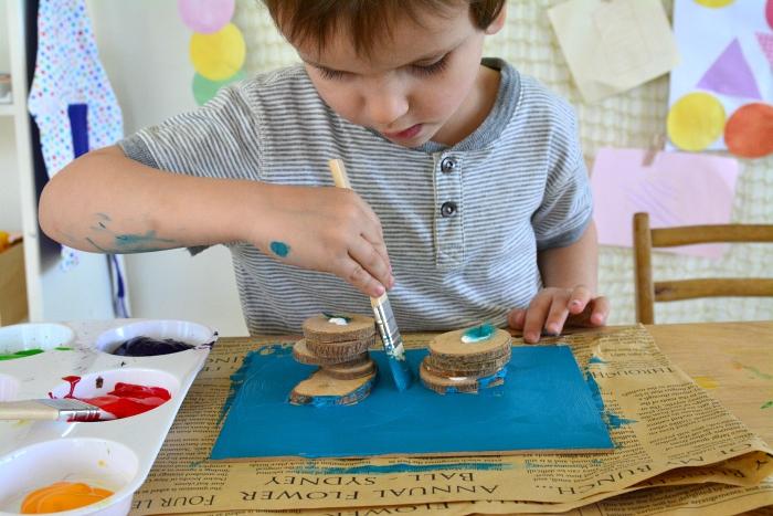Otis painting collage at How we Montessori