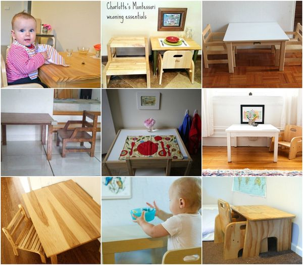 Real Montessori Weaning Tables How We Montessori