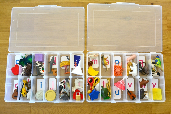Alphabet Box at How we Montessori DIY