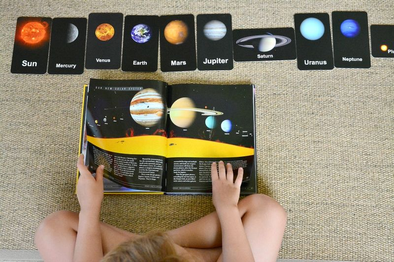 Flash of Brilliance Space Cards at How we Montessori