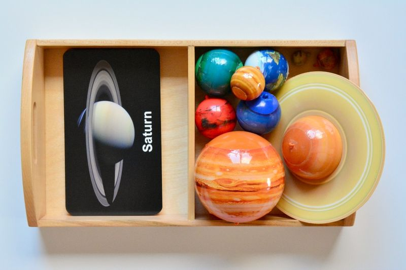Flash of Brilliance Space Cards for matching activity at How we Montessori