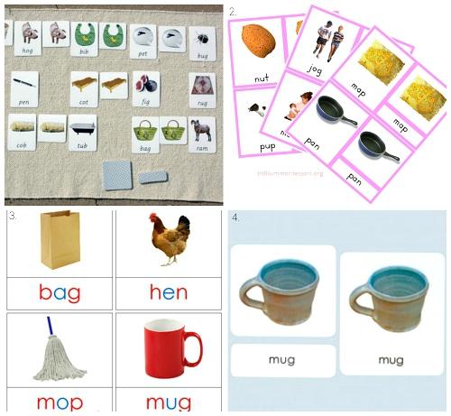 Montessori Three Part Phonetic Cards