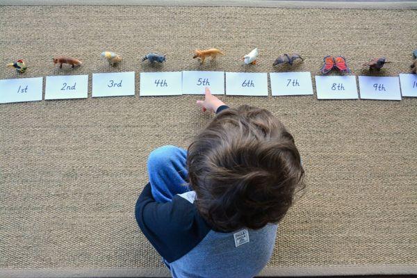 Introducing Ordinal Numbers - how we montessori