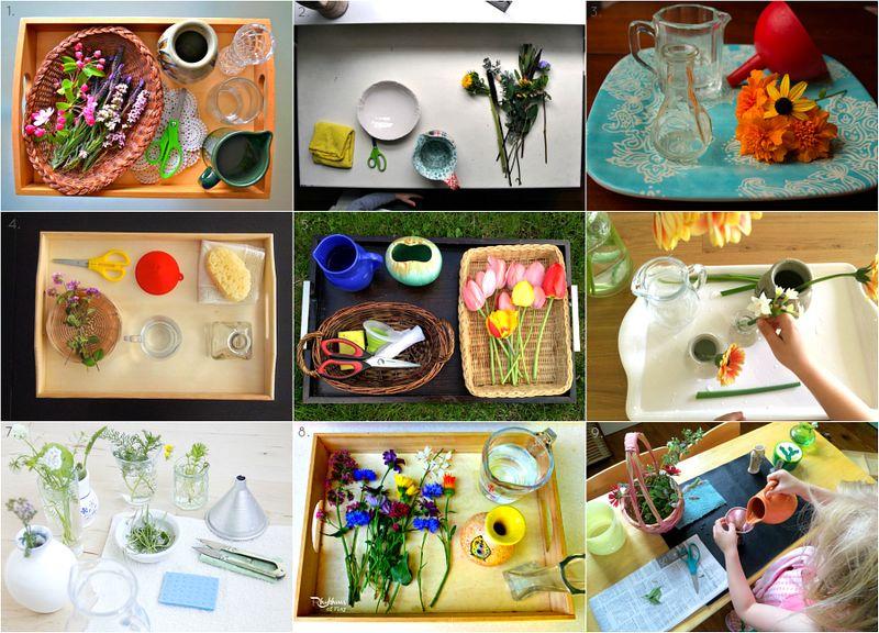Fantastic Montessori Flower Arranging Activities at How we Montessori
