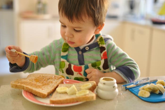 Montessori and Me Honey, Banana and Toast